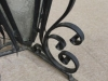wrought iron gate post lanterns