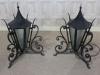 wrought iron pillar top lanterns