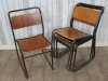 set of retro stacking chairs