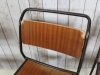 set of vintage stacking chairs