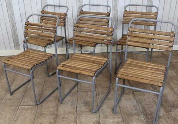 Slatted Seat Stacking Chairs Original School Chairs