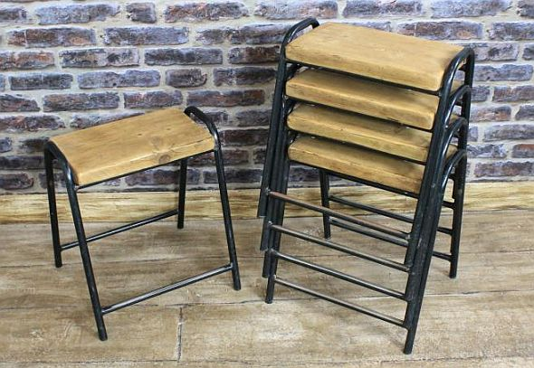 old stacking stools