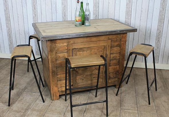 vintage kitchen island work station in pine an original