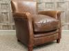 vintage style brown armchair