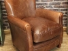 vintage style leather club chair