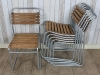 galvanised stacking chair