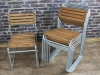 silver galvanised stacking chairs