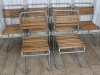 silver stacking chairs