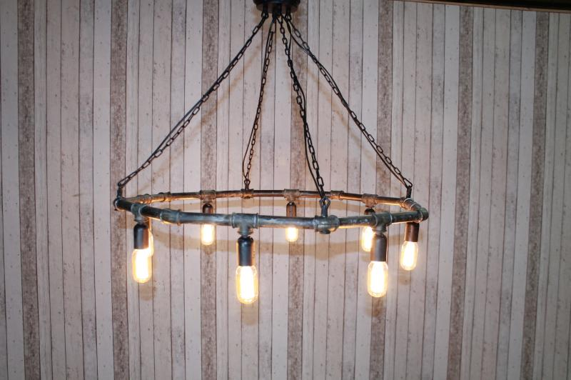 hexagonal pipe chandelier
