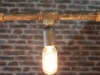 gas pipe chandelier industrial