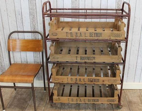 Industrial Crate Rack This Original Steel Frame With