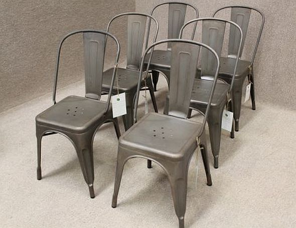 Metal Cafe Chair Tolix Style Iron Various Colours