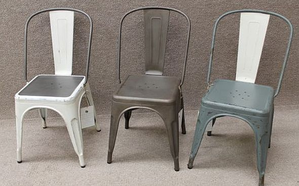 Chair tolix style iron various colours available classic vintage