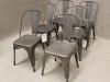 gunmetal grey metal tolix chairs