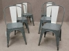battleship grey industrial retro chairs