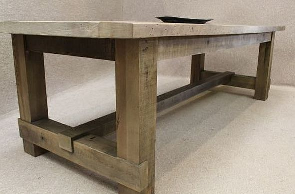 Captivating Industrial Table In Oak