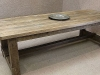 chunky oak farmers table