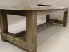 industrial table in oak