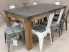 industrial retro dining tables