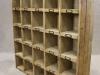 reclaimed pine bookcase letter rack