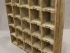 vintage pine letter rack