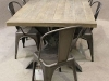 metal cross leg table