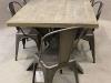 metal cross leg table
