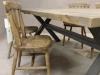metal x leg kitchen table