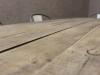 retro wood metal table