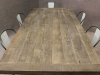 rustic oak vintage table