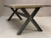 vintage oak cross leg table
