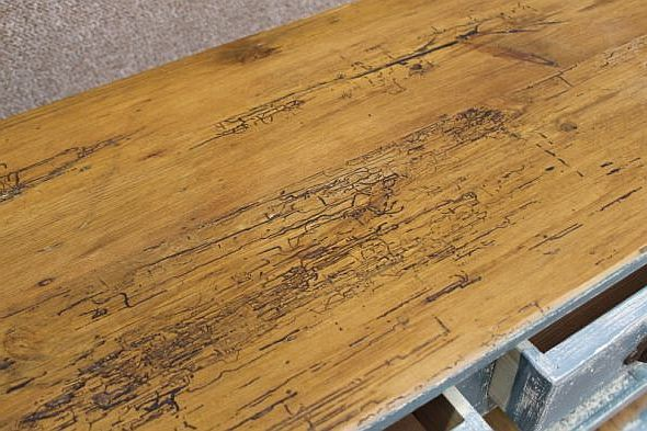 Shabby Chic Sideboard Reclaimed Pine Top And Hand