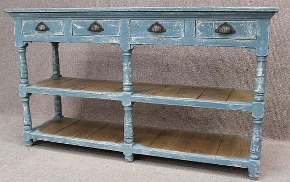 shabby chic sideboard reclaimed pine top and hand distressed paintwork. Black Bedroom Furniture Sets. Home Design Ideas
