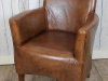 antique style leather armchair