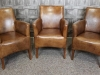 leather vintage style armchairs