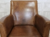 vintage style tan leather armchair