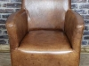 vintage style tan leather chair