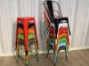 stacking tolix stools and chairs