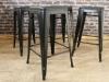 tolix style stools black