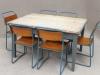 industrial shabby table