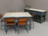 vintage industrial retro dining