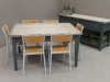 reclaimed industrial dining