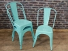 blue tolix funky stacking chairs