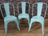 metal tolix style chairs stackable