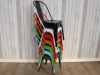 stackable tolix style cafe dining chairs