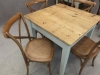 vintage industrial cafe table
