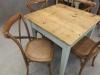 vintage industrial cafe table