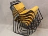 retro style vintage style stacking chairs