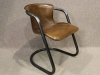 tubular steel and leather chair