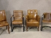 vintage style leather chairs